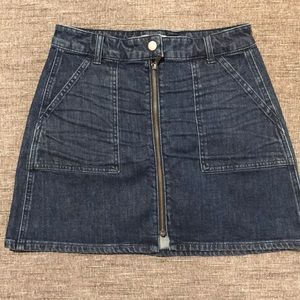 Madewell Denim Skirt with Front Zipper